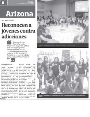 Article in Spanish Newspaper Recognizes Youth in Yuma County