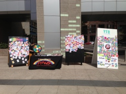 Teens encouraged passerbys to sign pledgeboards, pledging to avoid or quit tobacco use.
