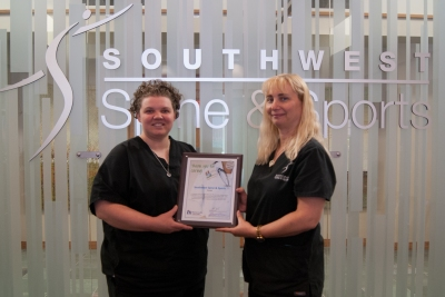 Southwest Spine & Sports Accepts their Certificate.